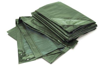 Afdekzeil, standaard, groen, 10 x 15 m