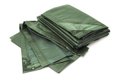 Afdekzeil, standaard, groen, 4 x 6 m