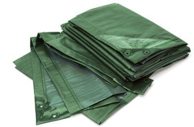 Afdekzeil, super sterk, groen/blauw, 3 x 4 m