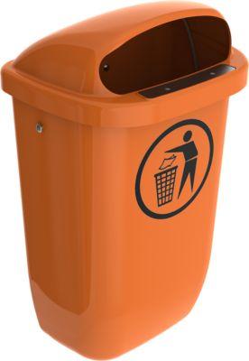 Afvalbak, 50 liter, oranje