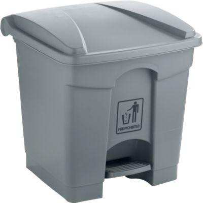 Afvalbak, 68 l, grijs