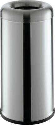 Afvalbak Bullet-Open-Top, 60 l, edelstaal, stuk