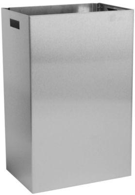 Afvalbak in rvs, voor wandmontage, 50 liter, 585 x 378 x 257 mm, 5,5 kg