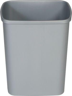 Afvalbak Probbax, rechthoekig, met uitneembare inleg, polypropyleen, grijs , 25 liter