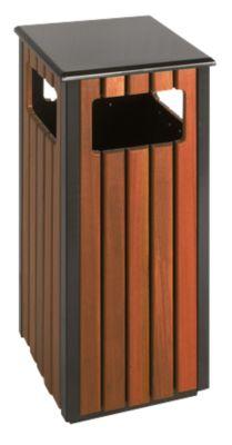 Afvalbak voor buitengebruik, 36 l, vierkant met 4 inworp-openingen
