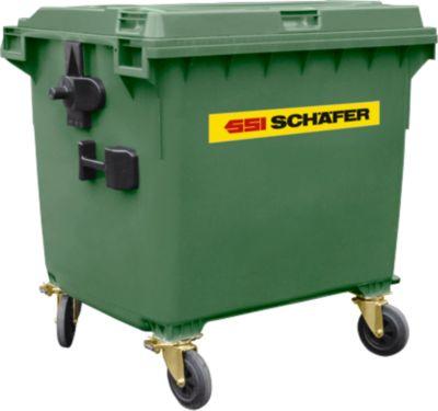 Afvalcontainer MGB 1100 FD, kunststof, 1100l, groen