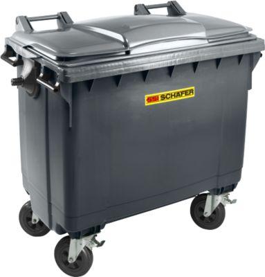 Afvalcontainer MGB 660 FD, kunststof, 660l, antraciet