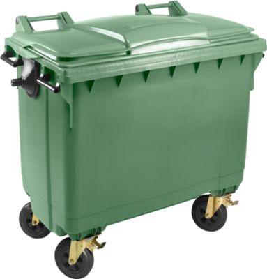 Afvalcontainer MGB 660 FD, kunststof, 660l, groen