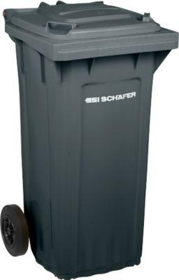 Afvalcontainer PRO120WAVE, 120l, verrijdbaar, antraciet
