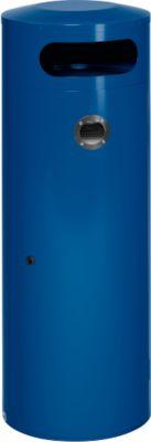 Afvalverzamelaar KS90, met geïntegreerde asbak, gentiaanblauw