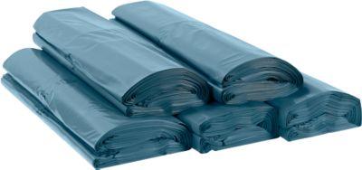 Afvalzakken PREMIUM uit polyetheen LDPE, 100 mµ, 120 liter,l 1250 x b 950 mm,  100 stuks