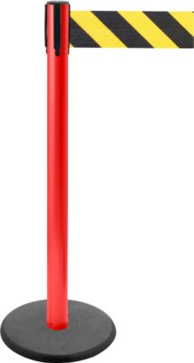 Afzetpalen GLA 29, rood, afzet zwart/geel