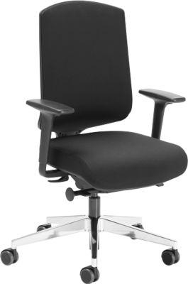 AIR-SEAT bureaustoel, synchroonmechanisme, met luchtkussen, met armleuningen, zwart
