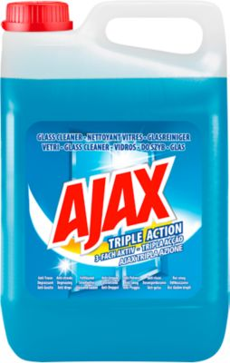 AJAX glasreiniger 3-voudig actief, 5 liter