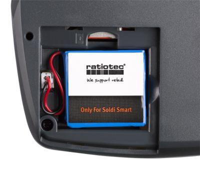 Akku für Geldscheinprüfer ratiotec® Soldi Smart & Soldi Pro, für bis zu 8 Stunden
