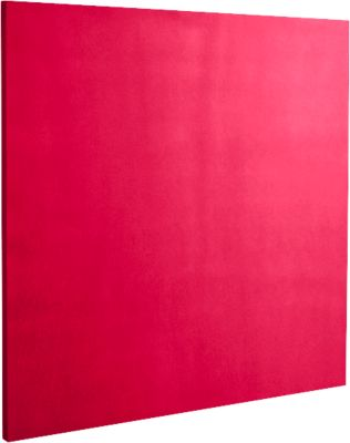 Akoestisch wandpaneel vierkant, B 500 x H 500 mm, polyestervlies in viltlook, framboosrood RAL 3027