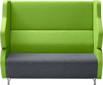 Akoestische loungebank FORUM tweezitter antraciet/groen