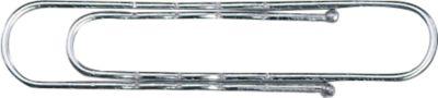Aktenklammern, gewellt, verzinkt, mit Kugelspitze, 100 Stück, Länge 77 mm