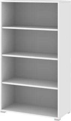 Aktenregal TEQSTYLE, 4 OH, B 800 x T 400 x H 1465 mm, weiß