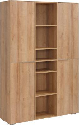 Aktenschrank Amy, 10 Ordnerhöhen hinter Tür, 5 offene Ordnerhöhen, H 1810 mm
