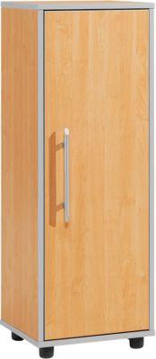 Aktenschrank Moxxo IQ, Holz, 2 Böden, 3 OH, B 401 x T 362 x H 1115 mm, Buche-Dekor