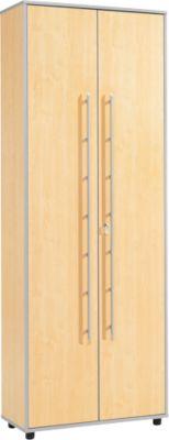 Aktenschrank Moxxo IQ, Holz, 5 Böden, 6 OH, B 801 x T 362 x H 2166 mm, abschließbar, Ahorn-Dekor