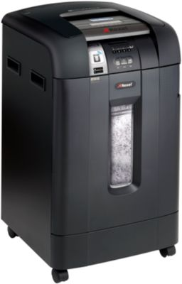 Aktenvernichter Rexel 600X SmarTech, Partikelschnitt, P-4, 80 l, bis 660 Blatt/Durchlauf