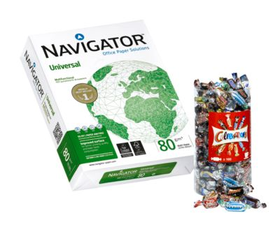 Aktionspaket Kopierpapier NAVIGATOR Universal DIN A4 10.000 Blatt + GRATIS Celebrations Box
