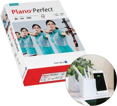 Aktionsset Kopierpapier Plano Perfect A4, 80g/m², hochweiß, 10.000 Blatt + Qi-Charger Ontario GRATIS