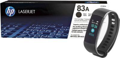 "Aktionsset Toner HP 83X LaserJet CF283X, schwarz + gratis Bluetooth Smartwatch ""Bracelet"""