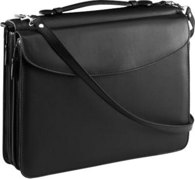 Alassio Orga-Tasche, DIN A4,  Kunstleder, mit Taschenrechner, schwarz