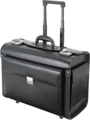Alassio®  Pilotenkoffer SILVANA met trolley en laptopvak, van echt leder