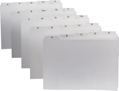 Alfabetisch register, DIN A5, wit.