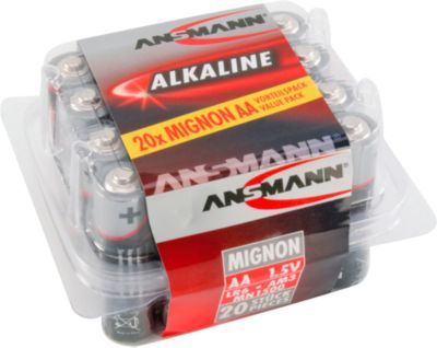 Alkalinebatterijen AA/LR6, 1,5 V, 20 stuks, 20 stuks
