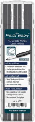 Allwetter Ersatzminen Pica BIG Dry ANILINE 2.0, Graphit, 5 mm, mit Etui, 12 Stück