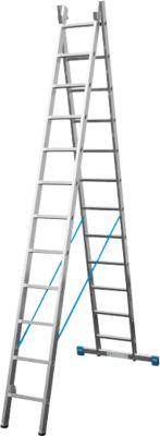 Alu. multifunctionele ladder, 2x9 sporten