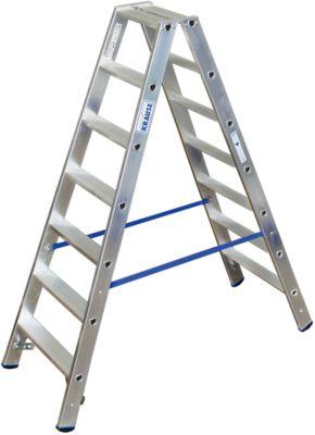 Alu-Stufendoppelleiter, 2 x 7 Stufen