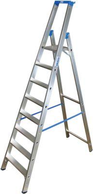 Alu-Stufenstehleiter, ohne Rollen, 8 Stufen