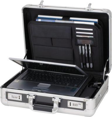 ALUMAXX Alu-Laptopkoffer, mit Tragegriff, 1 Fach, silber/carbon