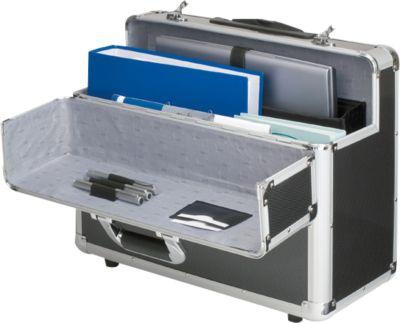 ALUMAXX Alu-Pilotenkoffer, mit Tragegriff, mit Laptopfach, Aluminium, silber
