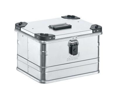 Aluminium box serie D, 29 l, met stapelhoeken
