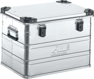Aluminium box serie D, 76 l, met stapelhoeken