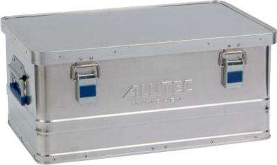 Aluminium doos Alutec Basic, materiaaldikte 0,8 mm, stapelbaar, met 1,5 mm deksel, 40 l inhoud