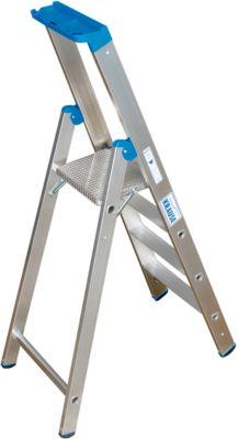 Aluminium ladder, 4 treden