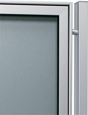 Aluminium-Ständer-Set, Rechteckrohr, z. Einbetonieren, 80x40x2150 mm, alusilber