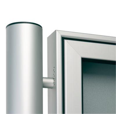 Aluminium-Ständer-Set, Rundrohr, z. Einbetonieren, Ø 80x2400 mm, alusilber