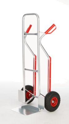 Aluminium stapelaar aluminium steekwagen, lekvrije wielen van PU-schuim, met veiligheidsgrepen