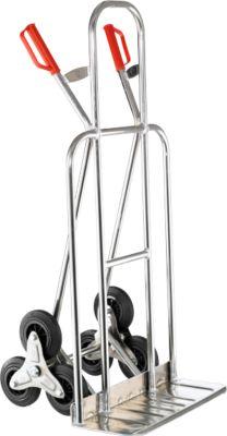 Aluminium trappensteekwagen, met driesterwielen, brede schep