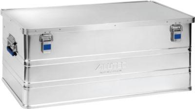 Aluminiumbox Alutec Basic, Materialstärke 0,8 mm, stapelbar, mit 1,5 mm Deckel, 142 l Volumen
