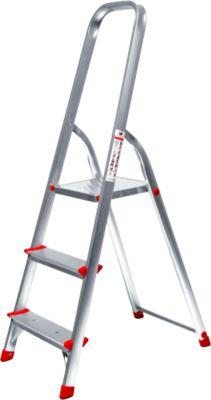 Alustufenstehleiter, belastbar bis 150 kg, 3 Stufen